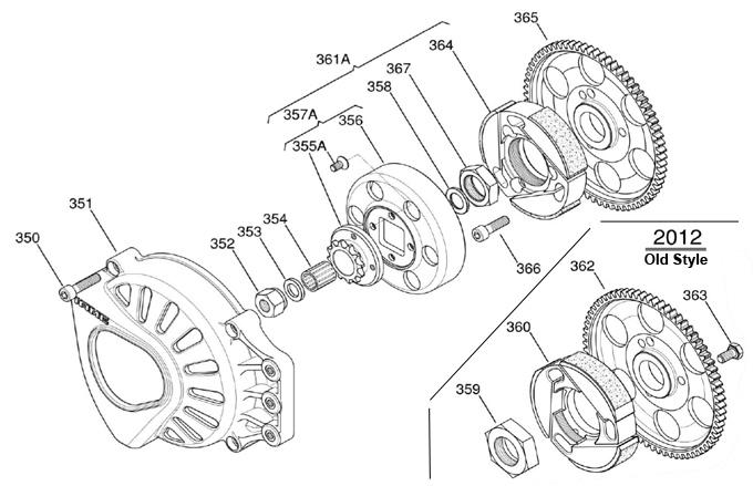 (357A) X30125552-C 12T Clutch Drum