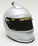 Impact Racing Adult Ultra Air Vapor Helmet, Silver