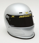 Impact Racing Adult Charger Helmet Silver
