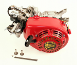 Red Clone Stock Engine with Accessories, No Clutch or Exhaust Pipe