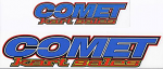 Comet Kart Sales Text Logo Sticker