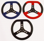Close Out! KG Suede Steering Wheel Flat Top With Lederfylon Grips