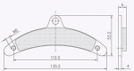 5335.S 2010 Birel Rear Brake Pads, Adult Banana