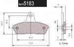 5183 SKM/Parolin Front Brake Pads