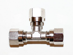 6mm Metric Three Way Compression Fitting with 3 Caps