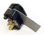 MCP 650 Black Front Caliper Assembly with Bracket