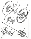 9. 206458A Comet Button, Package of 3