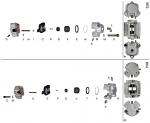 R. 0082.D1 Tony Kart OTK Self Adjusting Brake Caliper Half