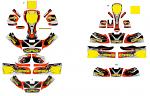 9. AFS.04256 CRG Kart Cadet New Age Sticker Kit 2018