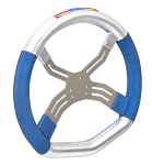0083.CF 2013 FA Kart 6 Hole Four Spoke Steering Wheel with High Grip Hand Material