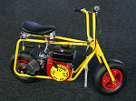 "Assembled Azusa Mini Bike with Predator Clone Engine, 8"" Wheels, Yellow Paint"