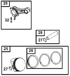 25. 555662 Briggs Animal Piston Assembly .020