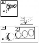 25. 555661 Piston Assembly .010