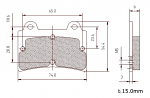 5227 Arrow Aftermarket 15mm Thick Rear Brake Pads