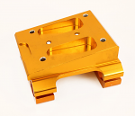 Close Out - Parolin Gold Engine Mount, Two Piece Slider with Clamps, 30mm