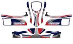 DPE-1KST02 Arrow X1MR Decal Kit for Midget Rookie Kart