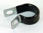 "3/4"" Thin Steel Clamp with Black Rubber Coating"