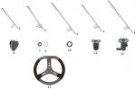 5. FC0.00104 CRG Steering Wheel Shaft KF X2+4