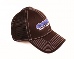 Comet Kart Sales Black Fitted Mesh Hat with White Stitching