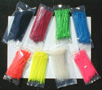 "Plastic Tie Wraps 8"" Long, 100 Pack"