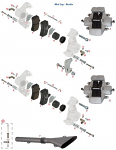 D. 0082.B2A Tony Kart OTK Rear Brake Pad Pin for Self Vented Disc