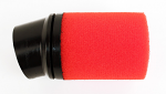 0205 RLV Red Inner Foam Air Filter for Airbox - Angled