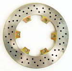 "208mm (8 3/16"") Vented Rear Brake Disc, Cross Drilled, Steel"