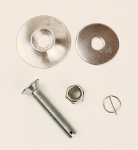 Rectangle Lead Weight Flat Head Drilled Bolt Kit with Clip