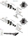 G. 0082.B3 Tony Kart OTK Spacer for Rear Brake Pad .5mm