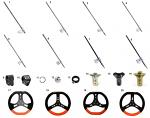 15. FAN.01626 CRG Kart Steering Wheel Hub, Angled, Black