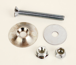 LBK-04 Round Lead Weight Flat Head Bolt Kit, Double Nut