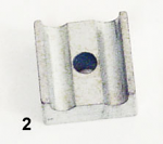 (2) Steel Throttle Cable Housing Holder