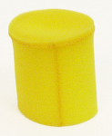 "Yellow Pre-Filter Foam Sock, 6 1/2"" Long"