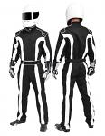 K1 Black/White Triumph 2 Proban Car Racing Suit (Special Order)
