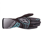 2020 Alpinestars Tech-1 K Race S V2 Youth Gloves Black/Turquoise