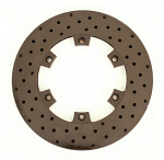 "210mm (8 1/4"") Vented Brake Disc, Cross Drilled, Black Steel"