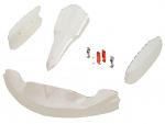 CIK OTK M4 Adult Bodywork Kit WITH Nose Hardware, Pearl White
