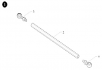 1. 10.5162.00 Birel Tie Rod Assembly 225mm Aluminum