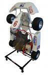 Streeter Vertical Upright Kart Stand, Kid Kart, Black