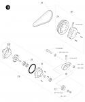 18. 6550.00.01 Birel Axle Water Pump Assembly, For 40mm Axle, Belt Drive