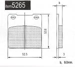 5265 Merlin, Jeselo Kart Rear Brake Pads