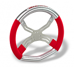 0083.D0 2013 Tony Kart 6 Hole Four Spoke Steering Wheel with High Grip Hand Material