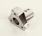 "Angled Steering Hub for 3/4"" Shaft, Silver"