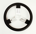 "New! Longacre 13"" Rubber Grip Aluminum Round Steering Wheel"