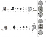 B. 0100.D1 Tony Kart OTK Self Adjusting Front Brake Caliper Body