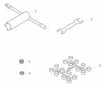 5. 10.2000.00 Birel Spindle Shaft Spacer Kit, Red Plastic M17